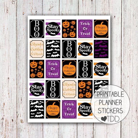 Printable Planner Stickers Halloween by ThoseDarlingDesigns