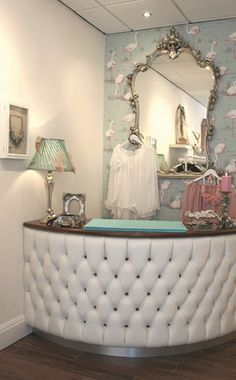 wallpaper for small boutique - Google Search