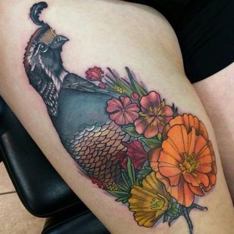 Quail tattoo