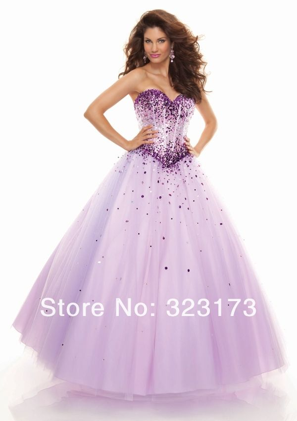 vestidos de 15 años largos color lila azul bola de novia vestido