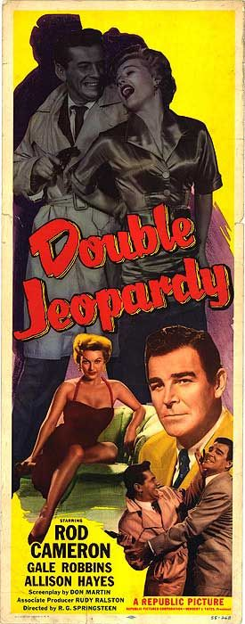 1955 movie posters   DOUBLE JEOPARDY POSTER