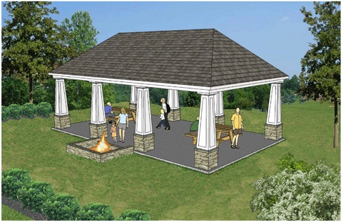 Picnic Pavilion With Fire Pit Gorgeous Outdoor Areas