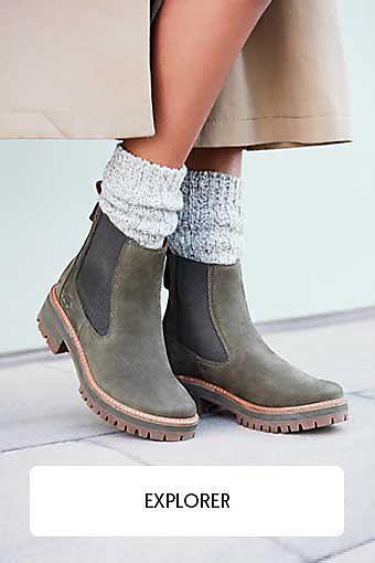 567ac5ab86d4 Premium 6 Inch Boot for Men in Black. Bottine Chelsea Courmayeur Valley  pour femme en vert