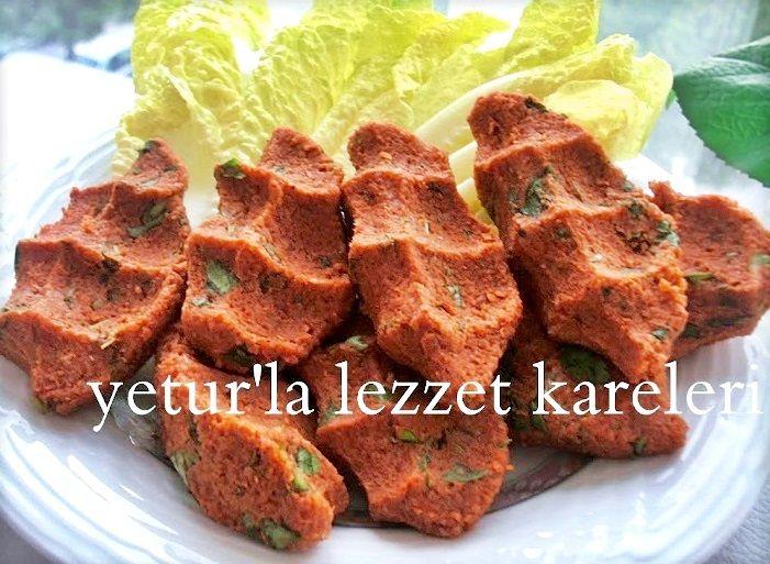 yetur'la lezzet kareleri: bayat ekmekli çiğ köfte (mutfak robotunda)