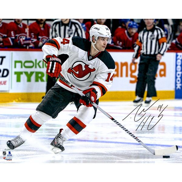 "Adam Henrique New Jersey Devils Fanatics Authentic Autographed 16"" x 20"" White Jersey Stopping Photograph - $69.99"