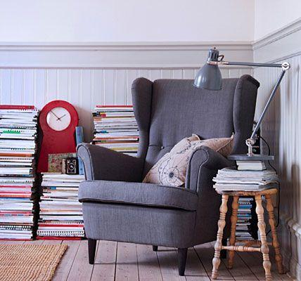 Ikea STRANDMON chair = utter love.