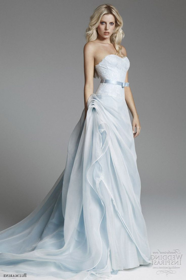 1000 images about beautiful blue on pinterest blue for Light blue and white wedding dresses