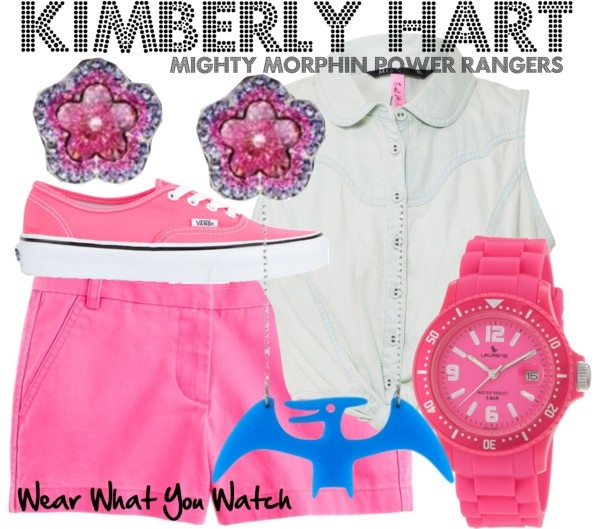 Inspired by Amy Jo Johnson as Pink Rangers Kimberly Hart the original pink ranger from Mighty Morphin Power Rangers.