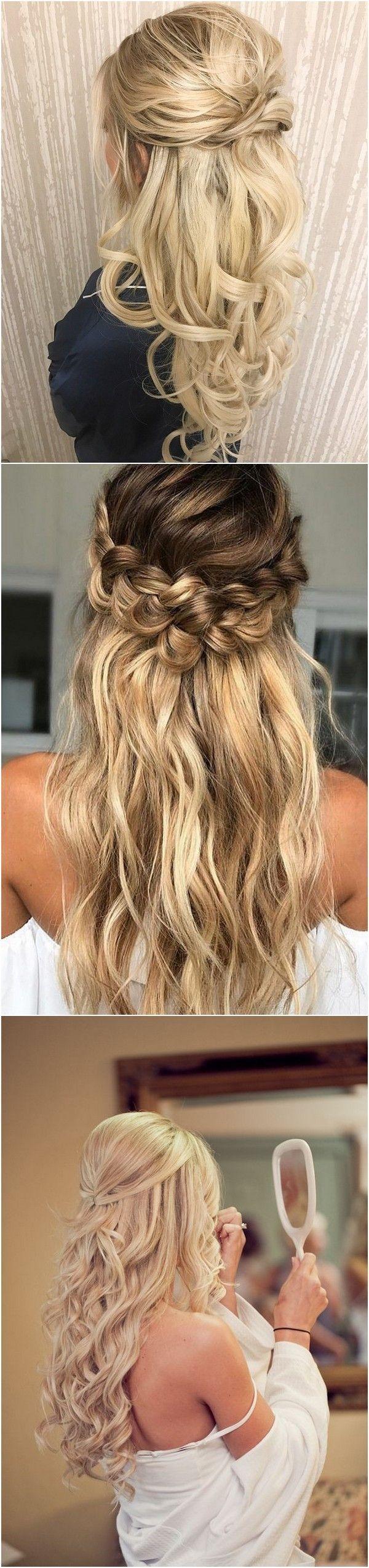 Half Up Half Down Wedding Hairstyles Ideas #easyhairstylesforprom