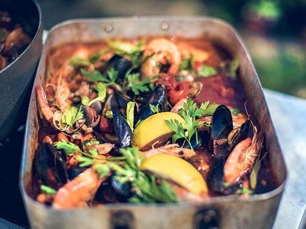 Toscansk fisk- och skaldjursgryta