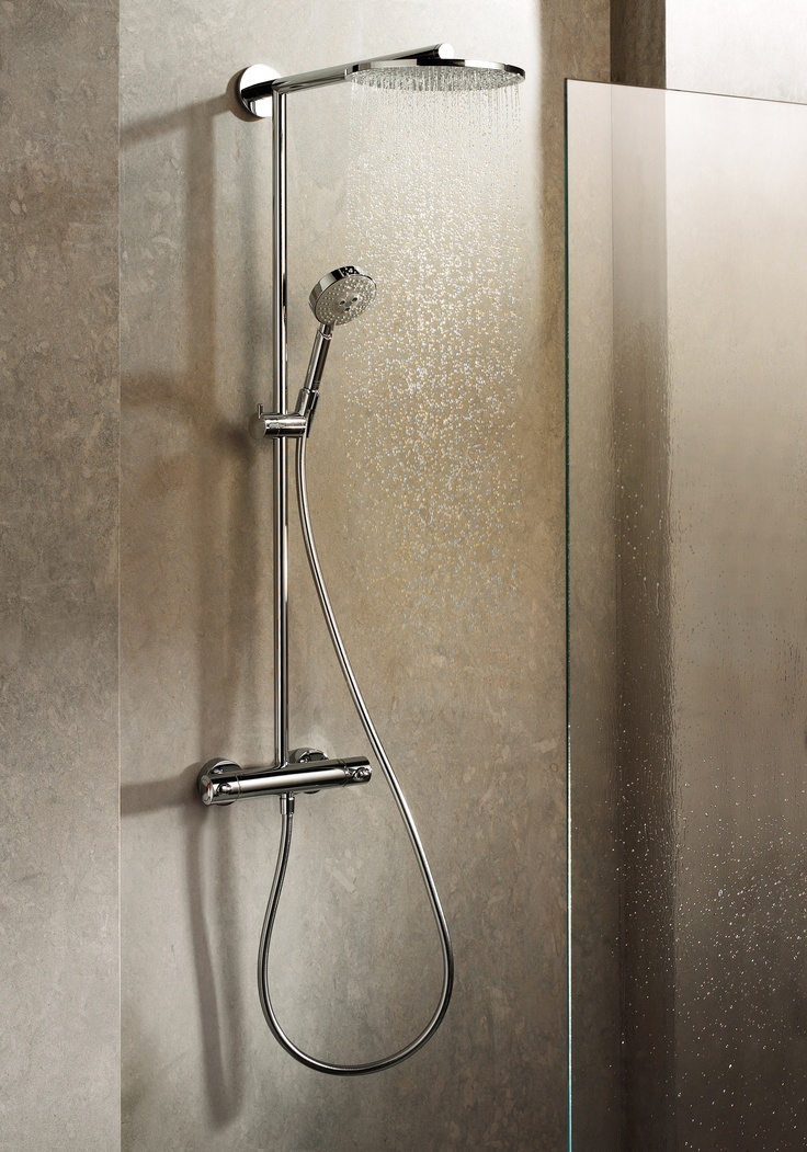 Hansgrohe Shower System In A Bathroom Setting The Actual Product Was Pinned Previously From