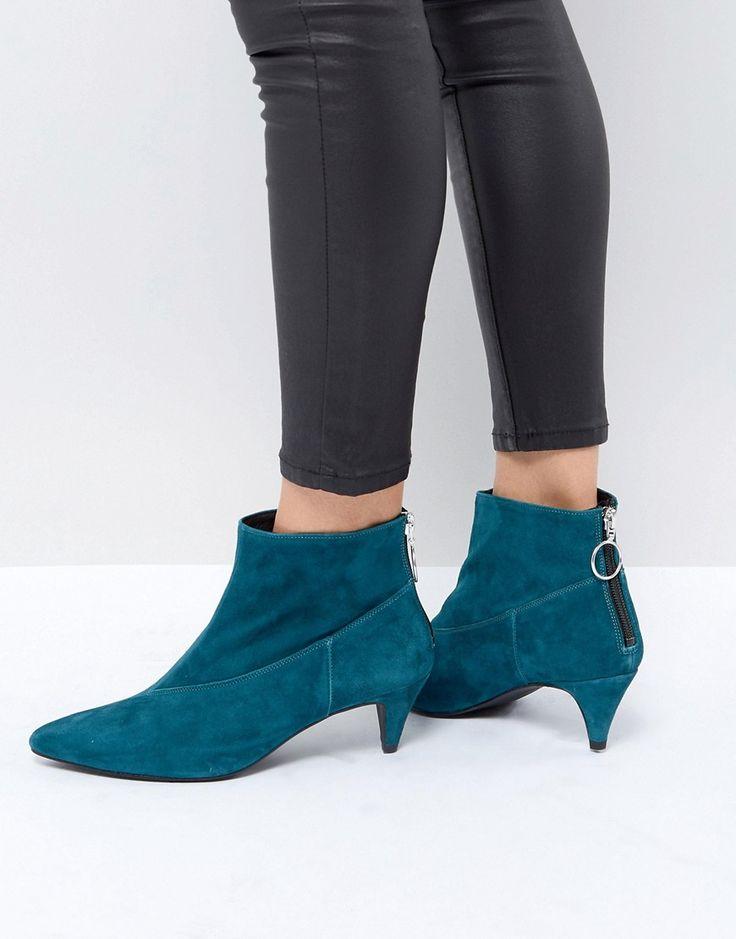Gestuz Sheba Suede Boots - Green