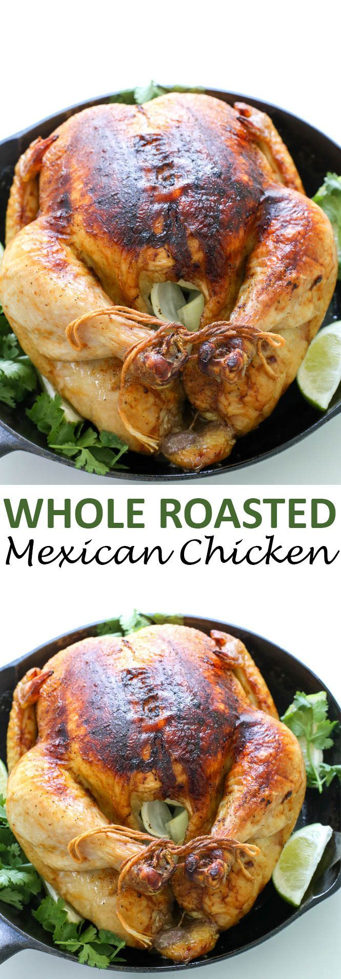 Whole Roasted Mexican Chicken with Chipotle, Lime and Cilantro. Tender, juicy and loaded with flavor. Plus a Giveaway! Enter below to win a Sharp Convection Microwave!