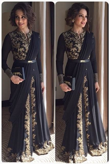 2015 New Listing O-Neck Long Sleeve Arabic Muslim Evening Dresses Lace Sleeved Long Gold Indian Dresses More