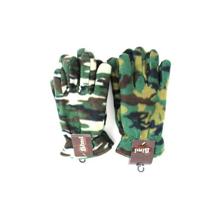 2 Pair Men Thinsulate Camouflage Fall - Winter Gloves Fleece Lined Sz Large NWT #Simi #EverydayGloves