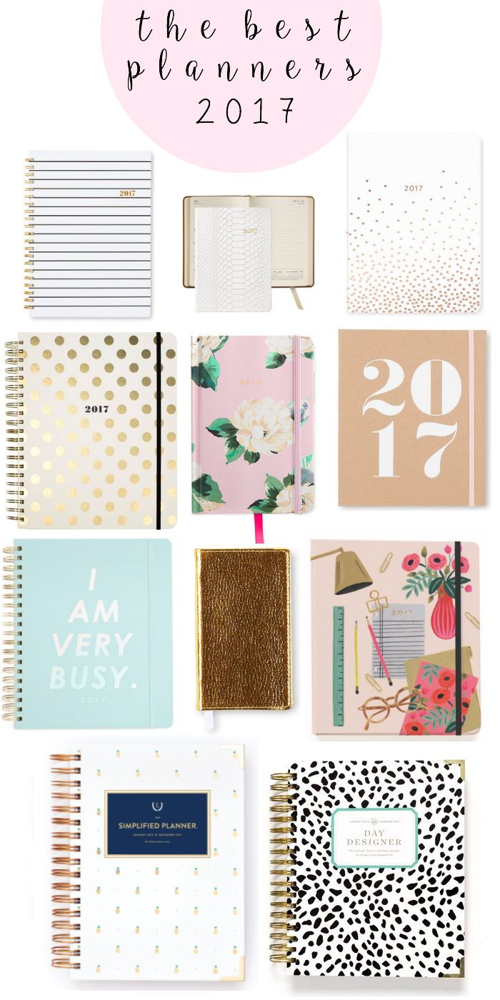 2017 planners, 2017 agendas, school supplies, planning, best planners for 2017