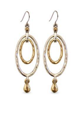 Lucky Brand  Orbital Earrings - Two Tone - One Size
