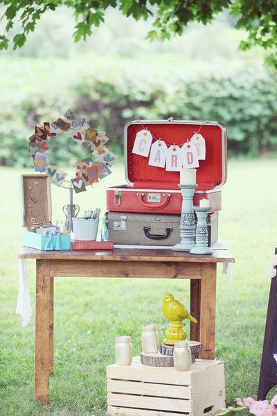 It's all in the details! Loving all of these #vintage and #rustic knick-knacks {Dreamlove Wedding Photography}