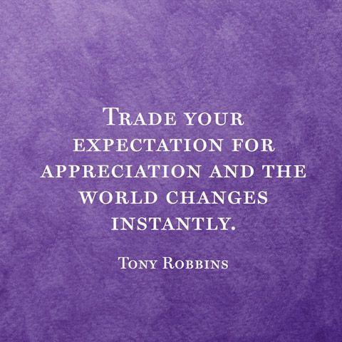 Expectations for appreciation