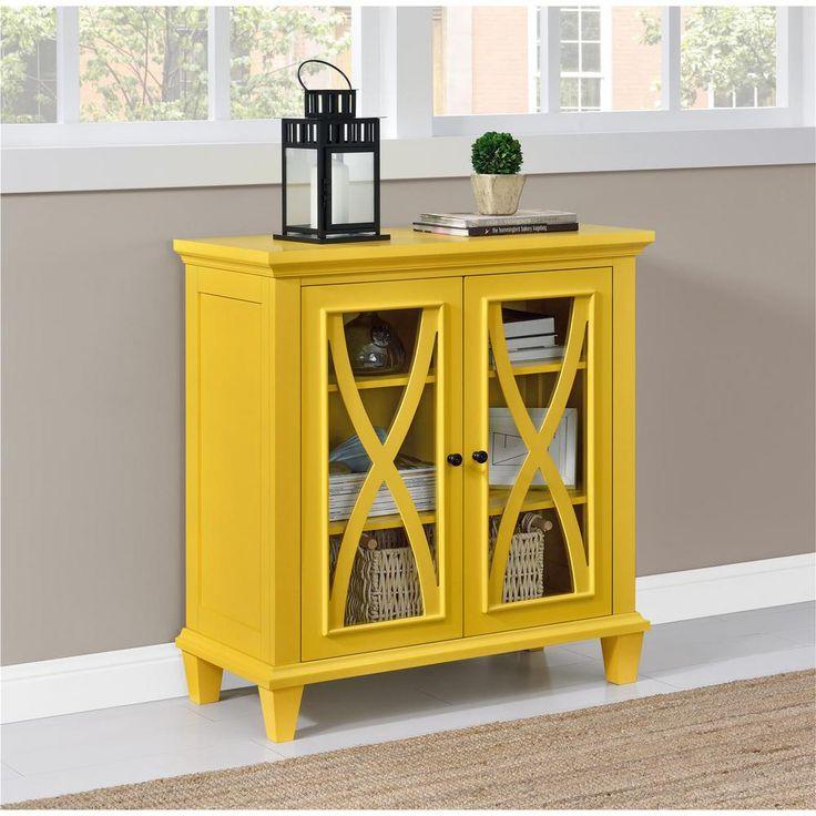 Ellington Yellow Storage Cabinet