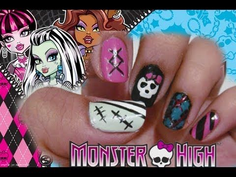 Halloween: Monster High Nails ! (+playlist)