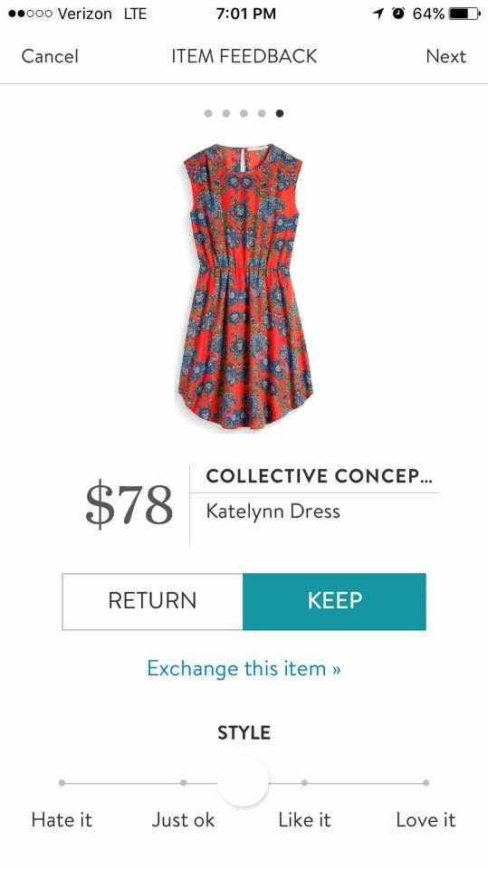 Stitch Fix Collective Concepts Katelynn Dress  The colors of this dress are so pretty!