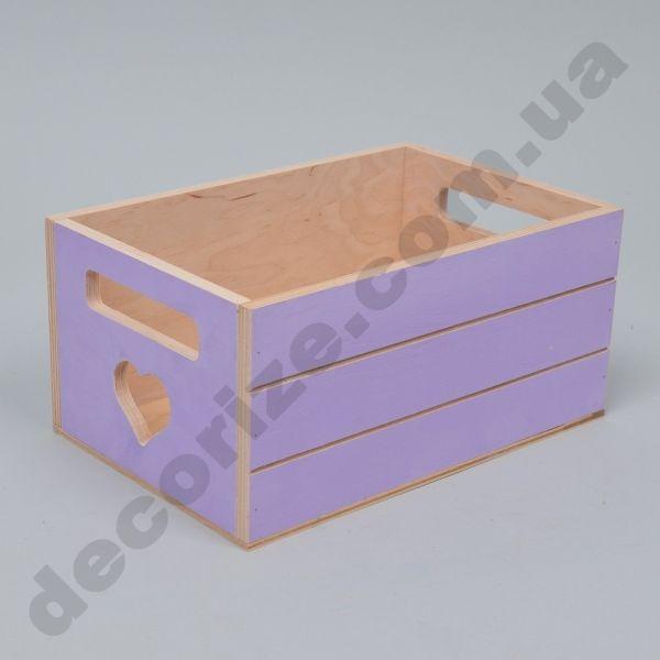 Ящики для цветов деревянные фиолетовые