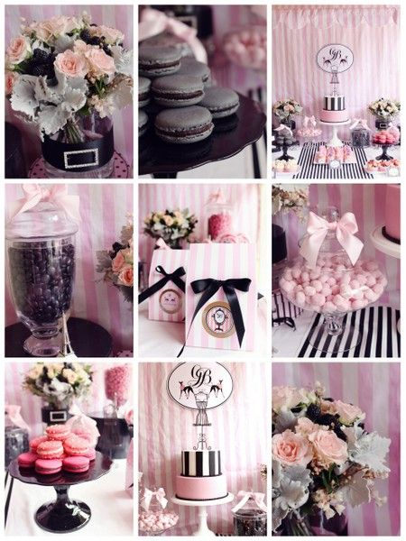 Chic Party Parisian themed black and pink party