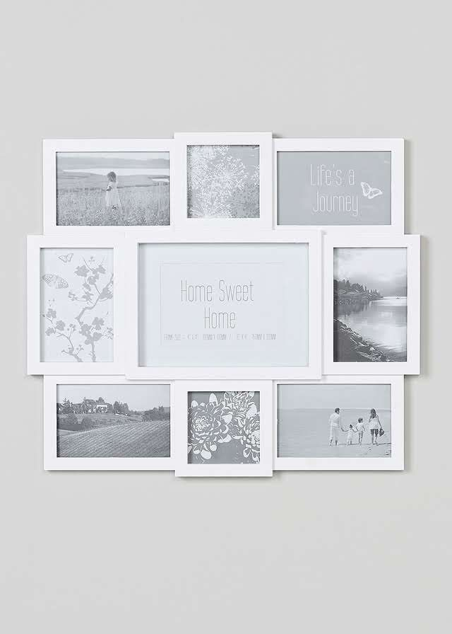 Multi Aperture Photo Frame (48cm x 42cm x 2cm) Matalan
