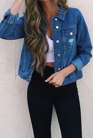 denim and a crop