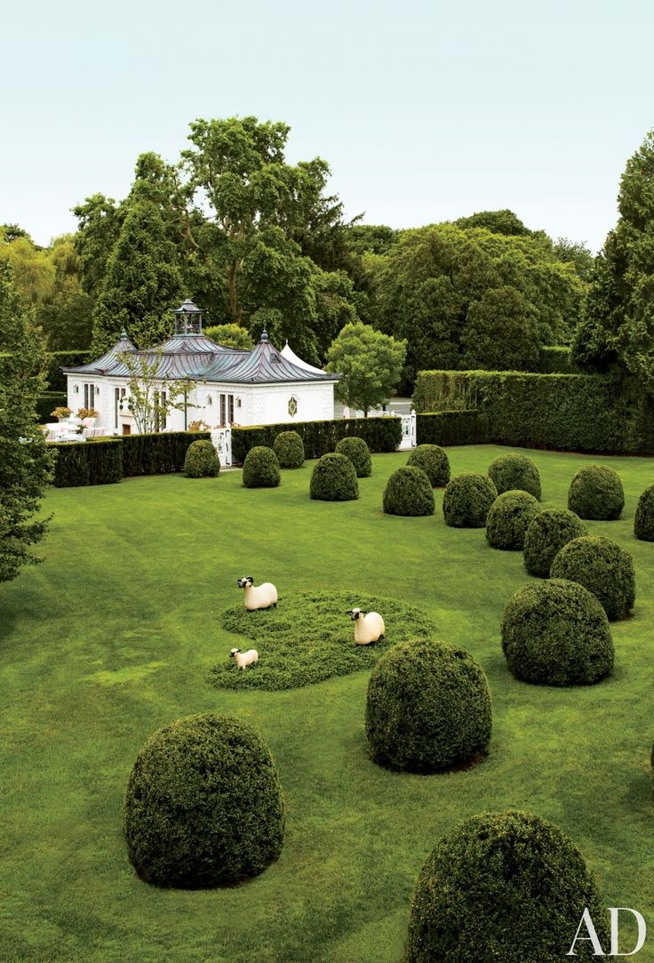 Perfectly manicured hedges define the grounds of these picturesque residences around the world