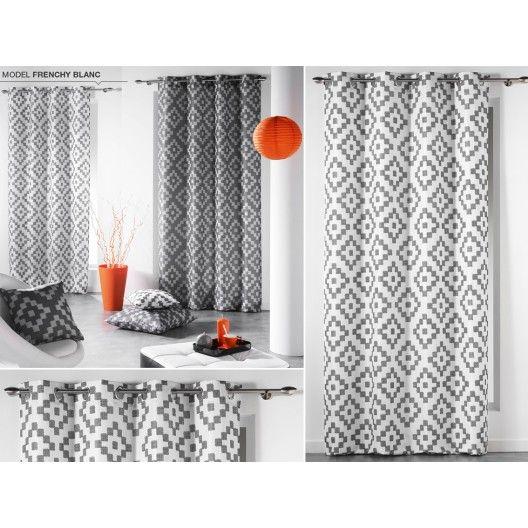 Dekoračné bielo sivé závesy na okno v škandinávskom štýle