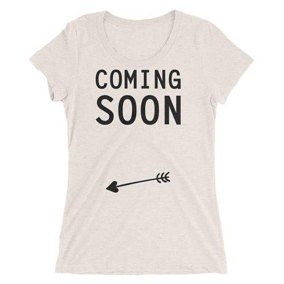 Tshirt pour femme enceinte Coming Soon
