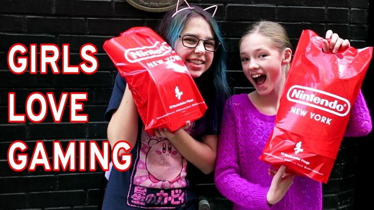 NINTENDO'S GIRLS LOVE GAMING & NINTENDO STORE SHOPPING | RADIOJH AUDREY