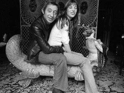 Jane Birkin and Serge Gainsbourg May 1972 at Their Paris Luxury Home Fotografie-Druck