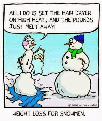 Funny snowman cartoon joke picture