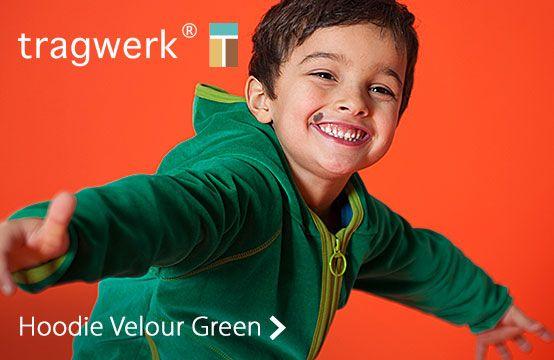 Tragwerk Hoodie Velour Green