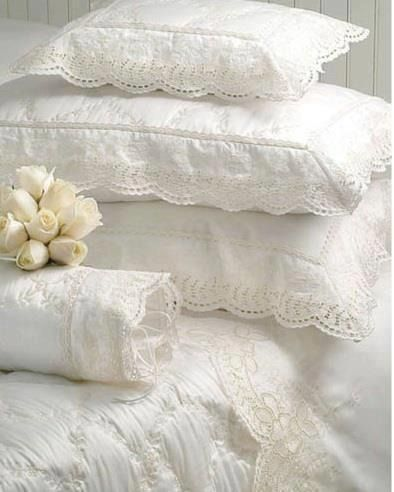 Beautiful bed linen.