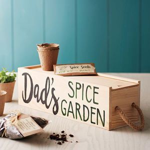 Personalised Window Box With Spice Selection Seeds. Discover thoughtful, personal and wonderfully unique gifts for him this Christmas. You won't be short of ideas.