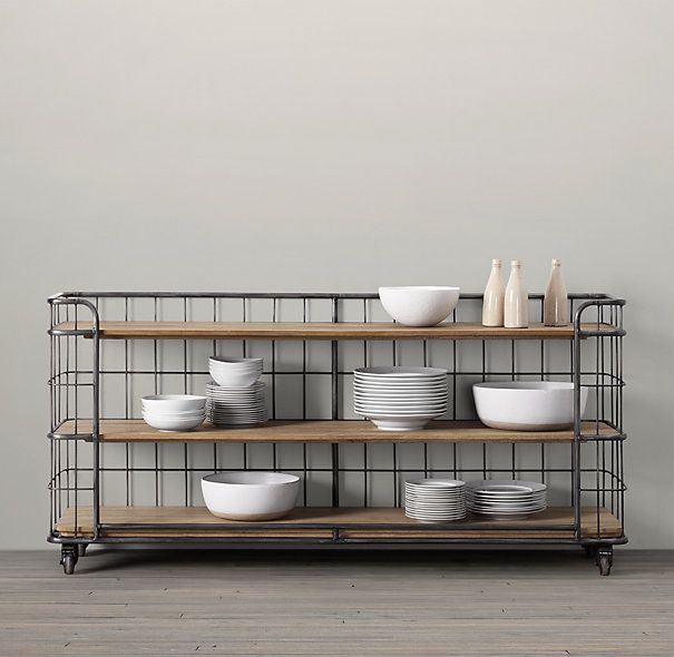 C. 1900 Baker's Rack Console / might be cool as a media console, too -- Restoration Hardware