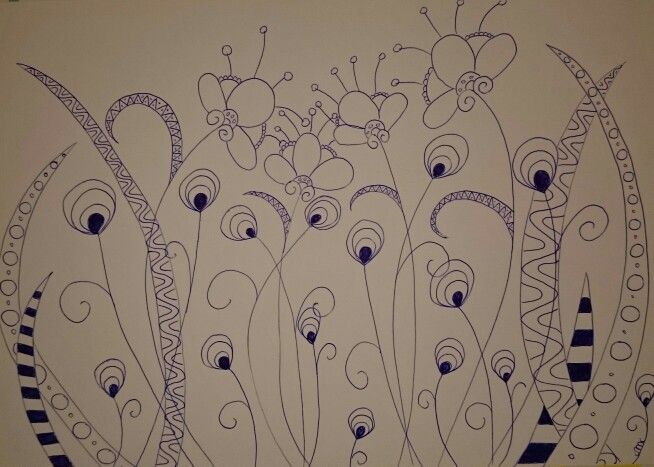 Zentangle bouquet