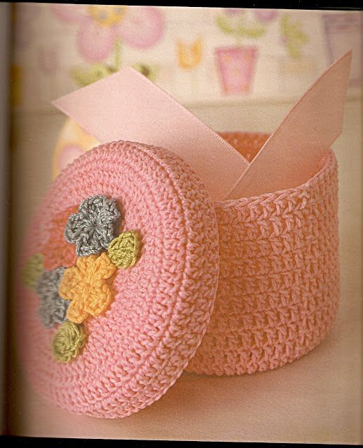 Patrones Crochet: Caja Redonda de Crochet Patron