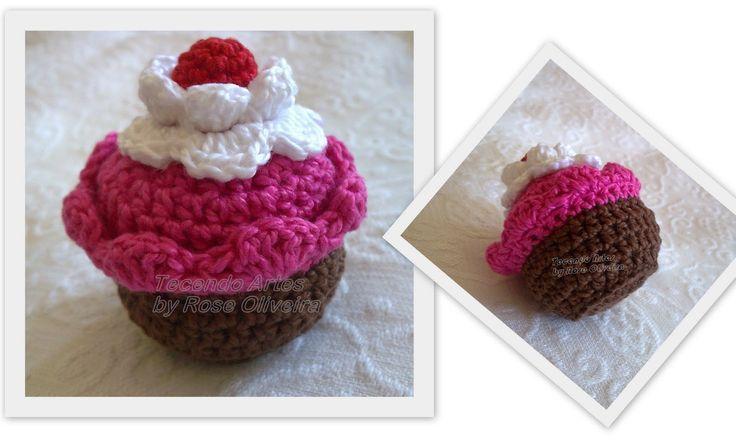 Ajudante de Papai Noel: Cupcakes em Crochê (Passo a Passo)