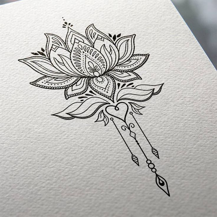 Lotus Flower Tattoo Design – MND2