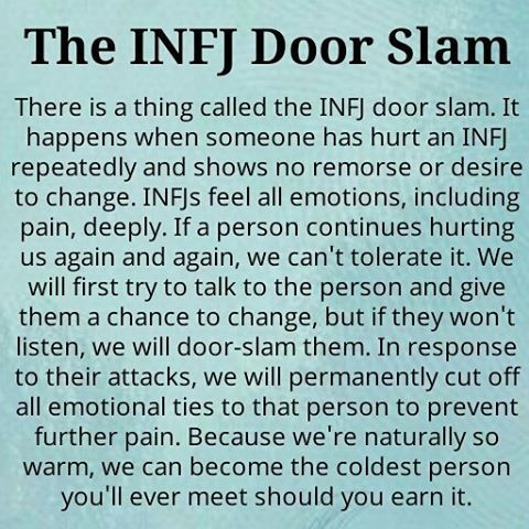 The infj door slam #me From instagram/infj_personality/
