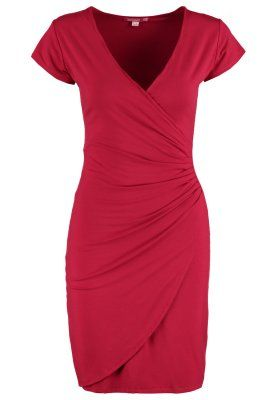 Abito a vestaglia per modellare fianchi e addome Wrap Dress to shape hips and belly AVELINA - Vestito di maglina - red