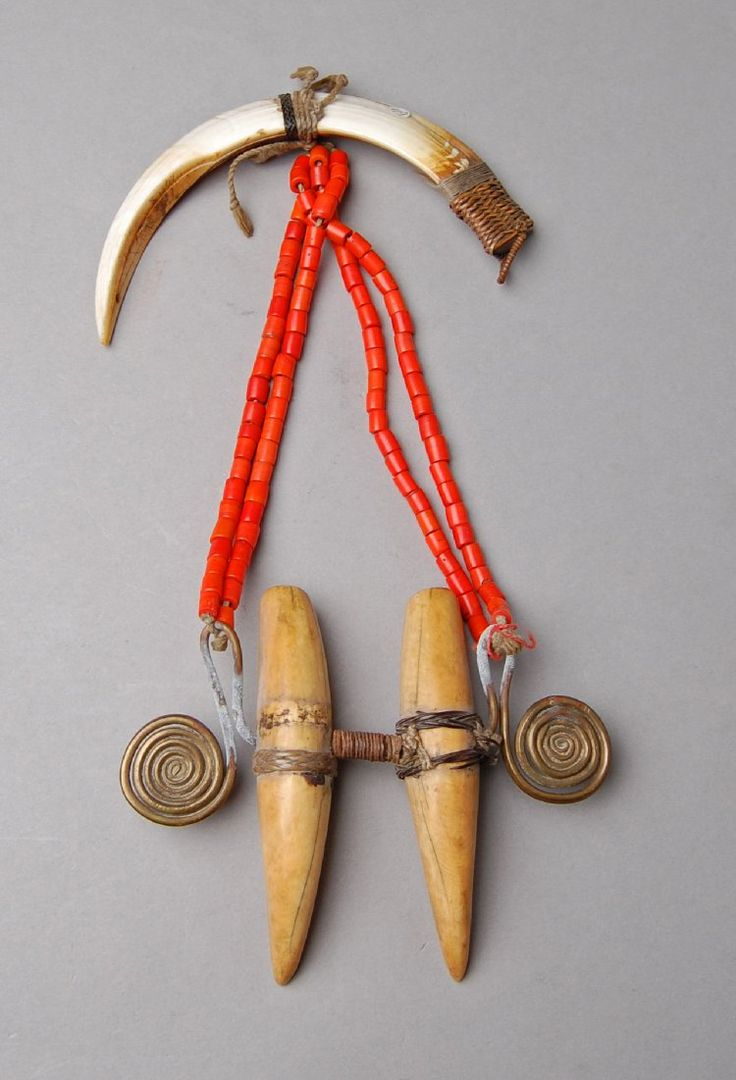 Huge Old Naga Tribal Jewelry Yak Tooth Necklace |Naga Jewelry