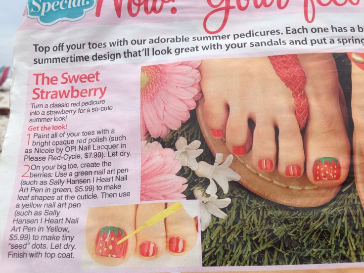 72 best rockin strawberry nails images on pinterest the sweet strawberry toenails prinsesfo Image collections