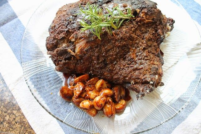 Food Lust People Love: Slow-Roasted Lamb with 40 Cloves of Garlic #NationalGarlicDay (swap red wine for beef broth, grape or cherry juice)