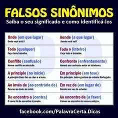 PoRtUgUêS nA TeLa: FaLsOs SiNôNiMoS. CONFIRA!